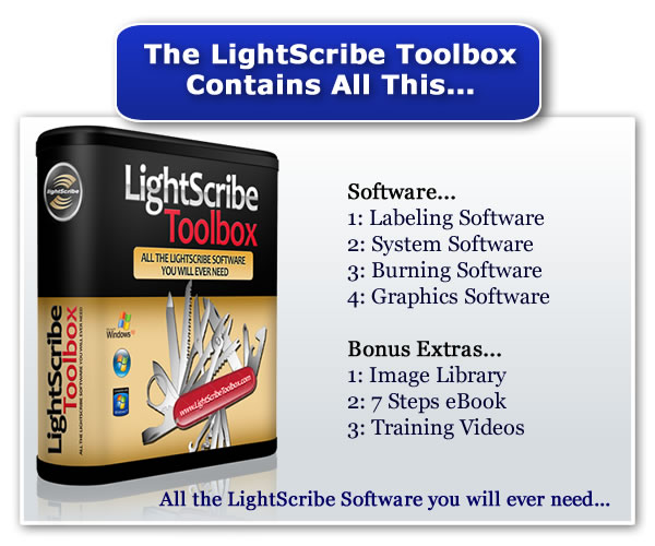 LightScribe Toolbox Contents All This Software