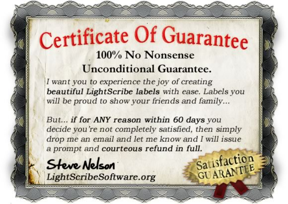 Lightscribe Software 100% Guarantee