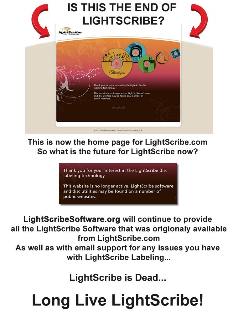 HP Closes LightScribe.com