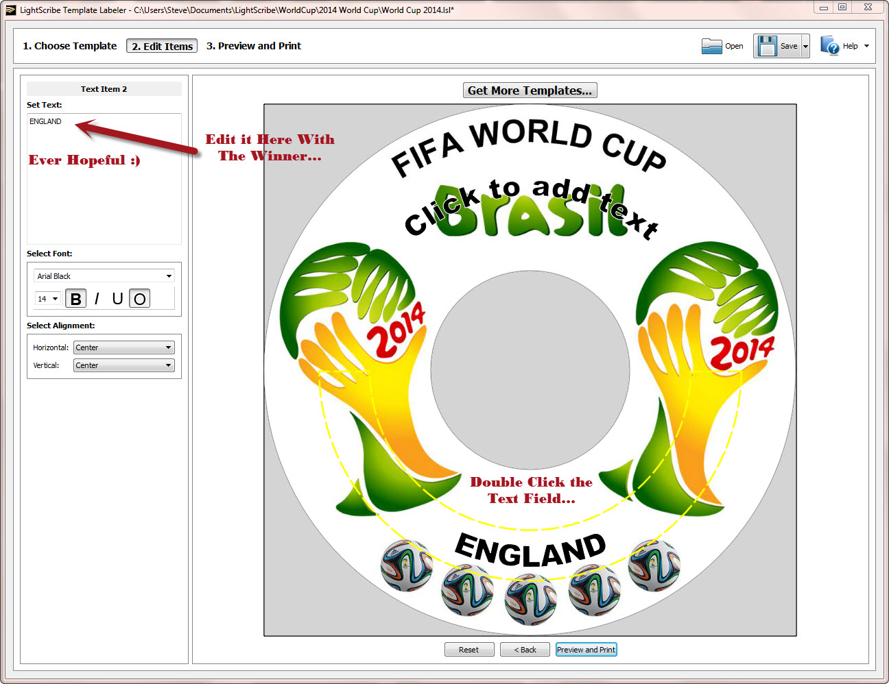 World Cup 2014 LightScribe Label 3