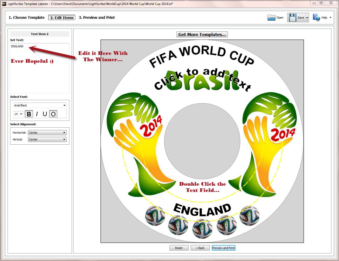 World Cup 2014 LightScribe Label 3