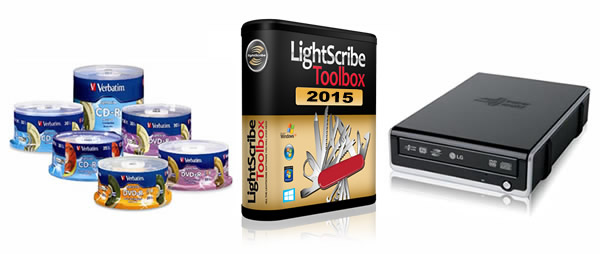 LightScribe Software, Hardware and Media