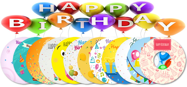 12 LightScribe Birthday Templates