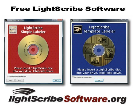 Free Windows LightScribe Software - The LightScribe Simple Labeler and LightScribe Template Labeler