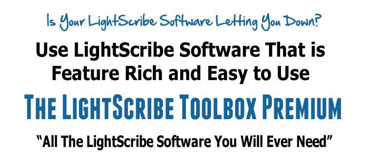 LightScribe Toolbox Premium Software