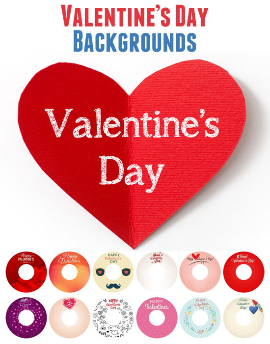 Happy Valentines Day LightScribe Label Backgrounds