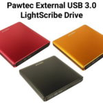 Pawtec Signature External USB 3.0 Aluminum 8X DVD-RW Writer Optical Drive with Lightscribe