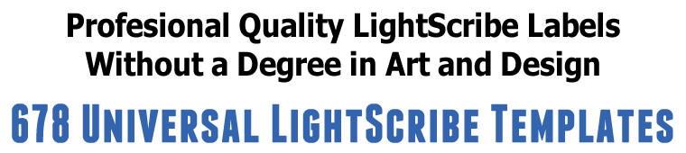 Get 678 Universal LightScribe Templates